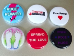 New RoseRed Pixie Badge Collection Available!